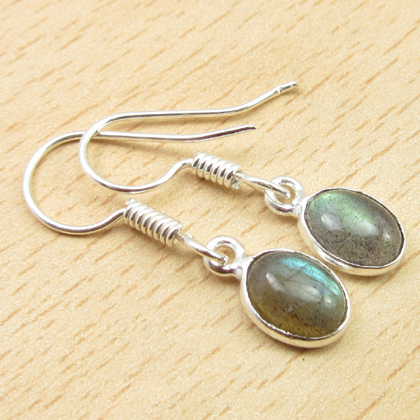 925-Silver-Plated-TIGER-039-S-EYE-amp-Other-Gemstone-FRENCH-WIRE-DANGLING-Earrings