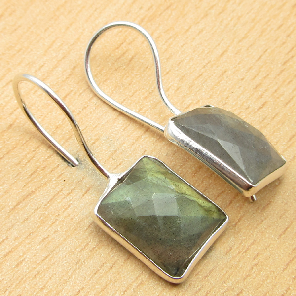 925-Silver-Plated-BLUE-FIRE-LABRADORITE-amp-Other-Gemstone-DELICATE-Earrings thumbnail 5