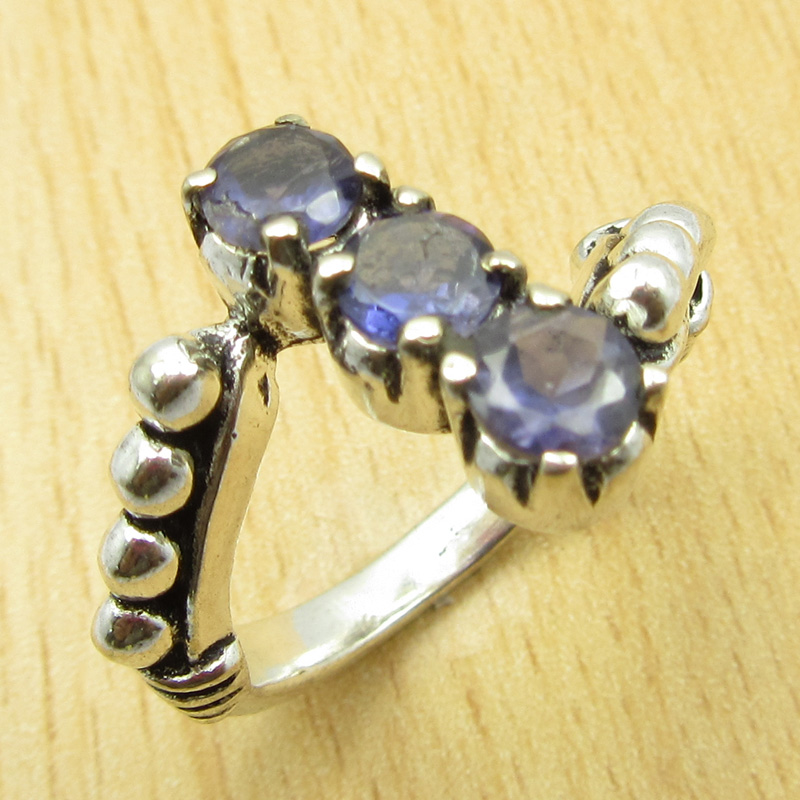 MANY-SIZES-MANY-STONE-925-Silver-Plated-IOLITE-amp-Other-Gem-Claw-Setting-RING thumbnail 10