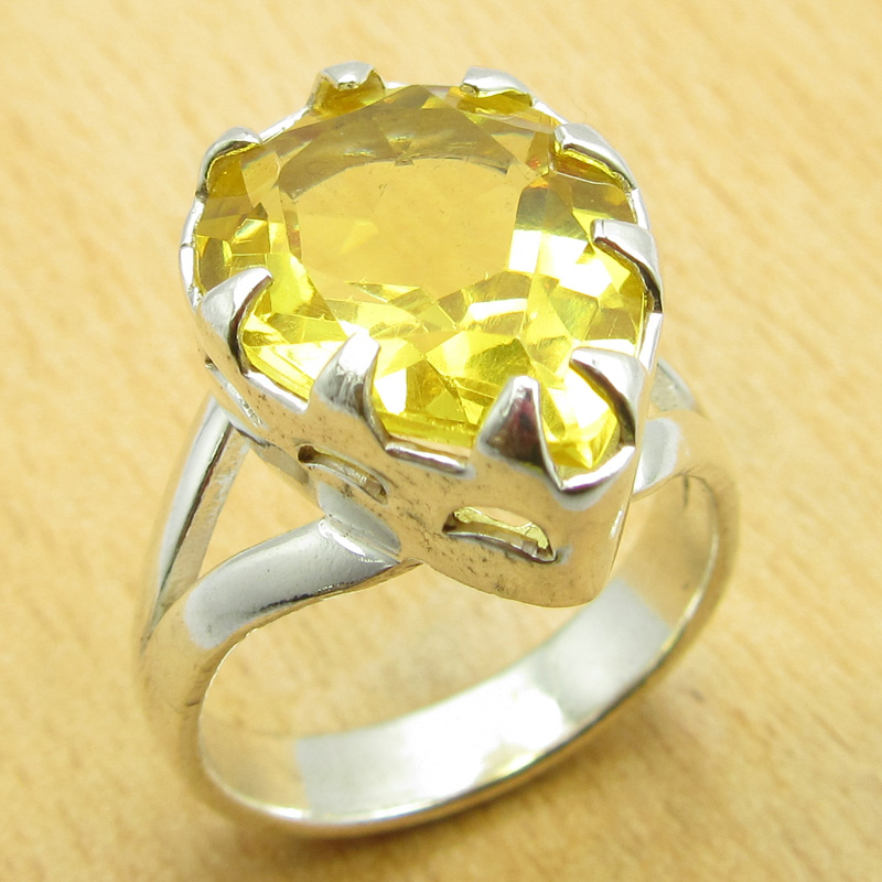 Women 39 s jewelry 925 silver plated high end citrine gift for High end gifts for women