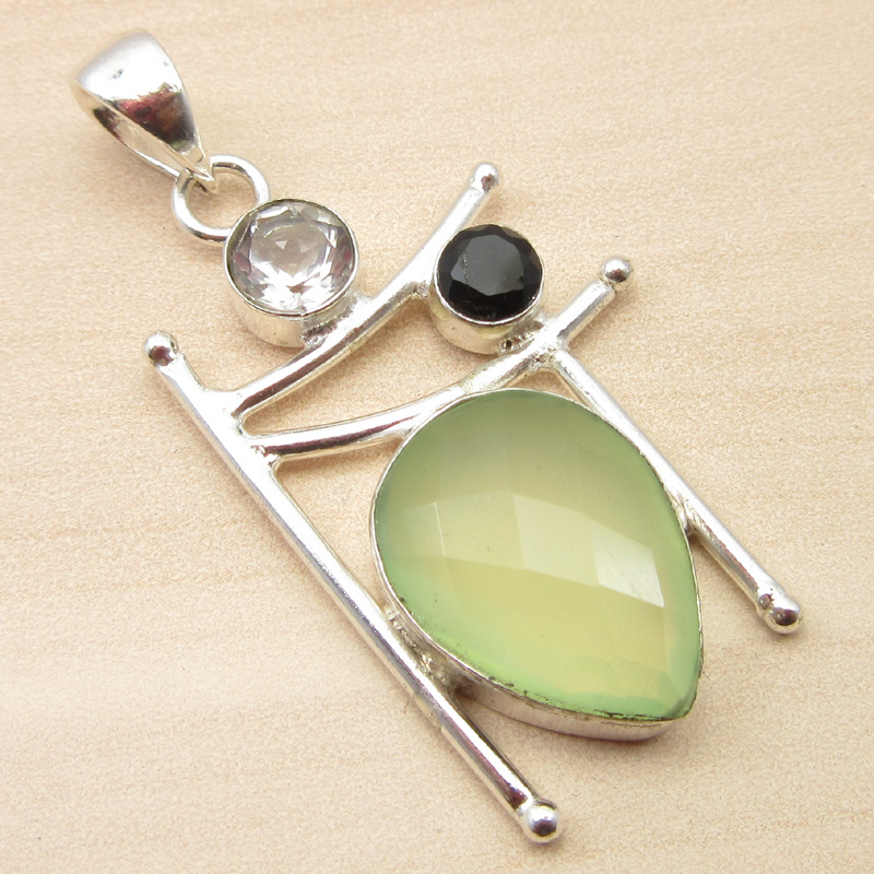 925-Silver-Plated-ORANGE-COPPER-TURQUOISE-amp-Other-Gemstone-Pendant-MANY-CHOICES thumbnail 11