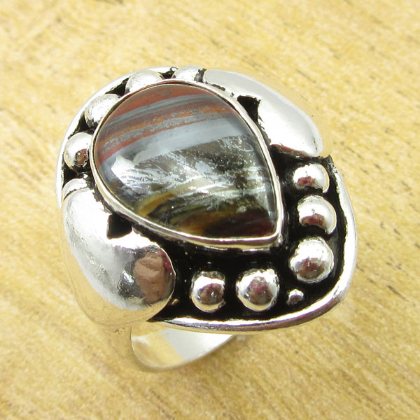 925-Silver-Plated-TURQUOISE-amp-Other-Stone-WELL-MADE-Ring-Size-Variation-To-Pick thumbnail 78