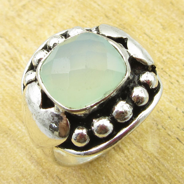 925-Silver-Plated-TURQUOISE-amp-Other-Stone-WELL-MADE-Ring-Size-Variation-To-Pick thumbnail 29