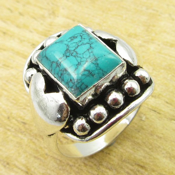 925-Silver-Plated-TURQUOISE-amp-Other-Stone-WELL-MADE-Ring-Size-Variation-To-Pick thumbnail 94