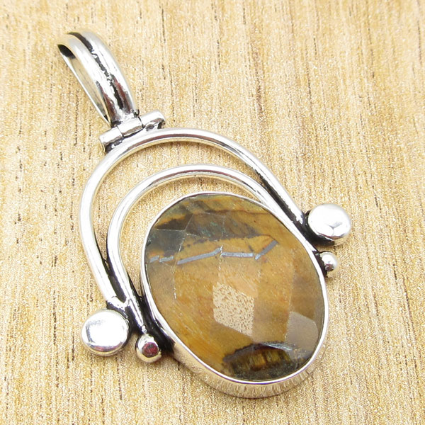 925 Silver Plated SIMULATED RUBY /& Other Gemstone Pendant Pick Your Choice !