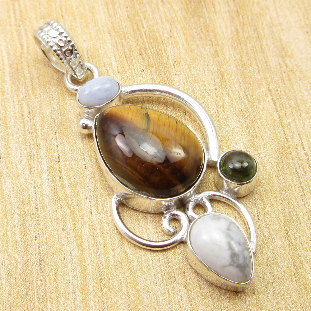 Multicolor Fabulous Tiger S Eye Other Gemstone Stone Pendant 2