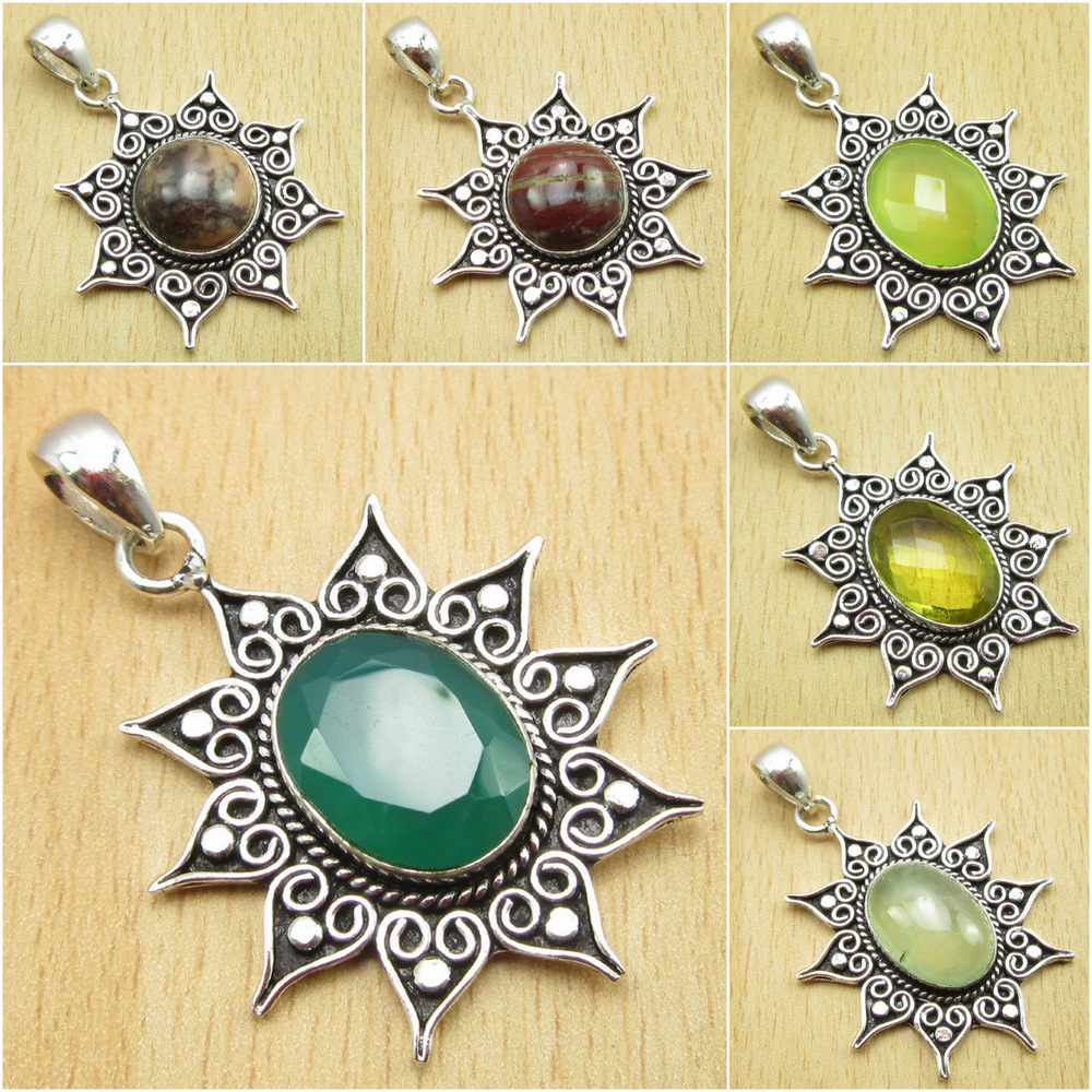 Real GREEN ONYX Perfect Earrings 925 Silver Plated Old Style MODERN Jewelry