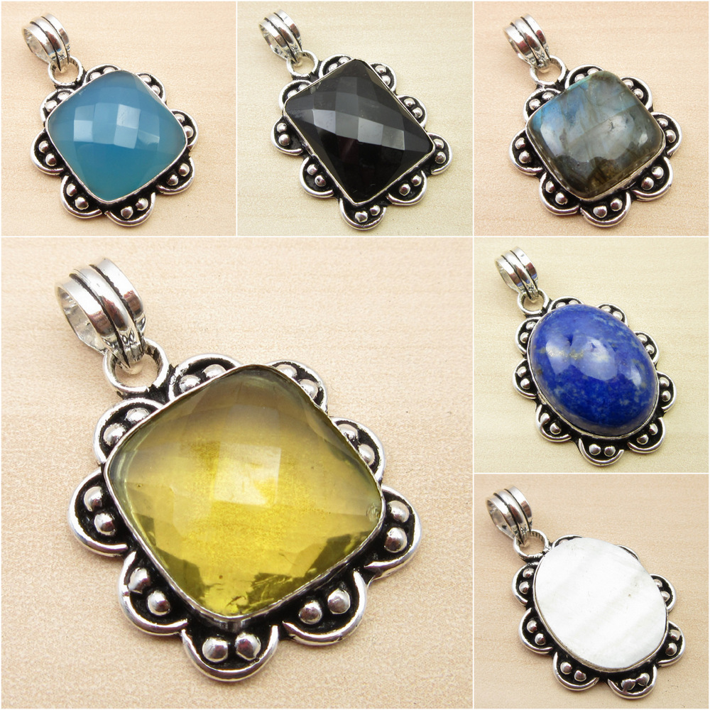 925 Silver Plated RAINBOW MOONSTONE Oxidized  Jewelry CROSS Pendant Necklace