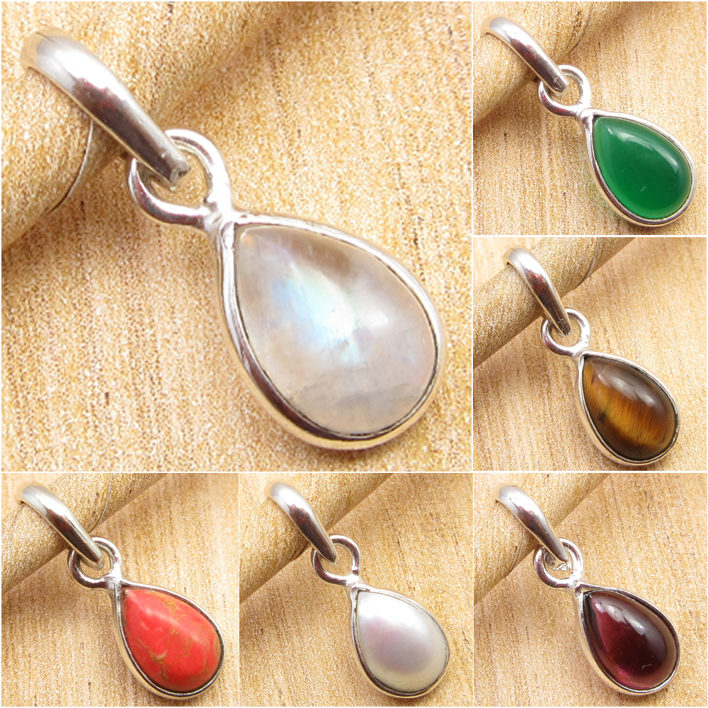 925 Silver Plated 1.8 Inch Jewelry 2 Drop Simulated SAPPHIRE Gemset Earrings